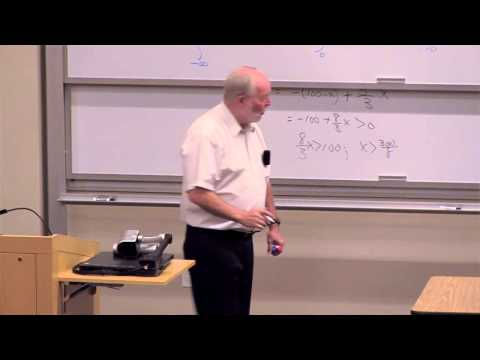 Math 176. Math of Finance. Lecture 02