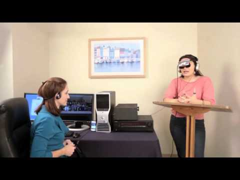 Excerpt of Virtual Reality Exposure Therapy session for Fear of Public Speaking