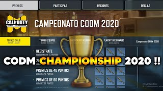 COD MOBILE CHAMPIONSHIP 2020 !! INFORMACIÓN CALL OF DUTY MOVIL