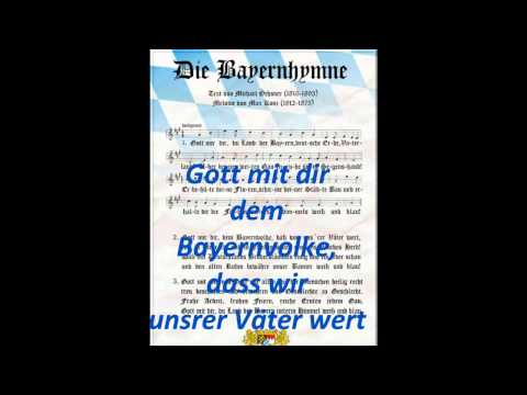 Die Bayern Hymne - The Bavarian national Anthem - Germany 1835 (with lyrics/Text) BEST VERSION !!!