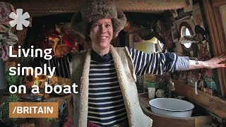 Simple living on a narrowboat home in West End London