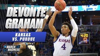 Purdue vs. Kansas: Devonte' Graham hits 5 threes, 26 points