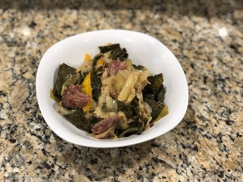 Southern Style Cabbage And Collard Greens With Smoked Ham Hock | Southern Smoke Boss