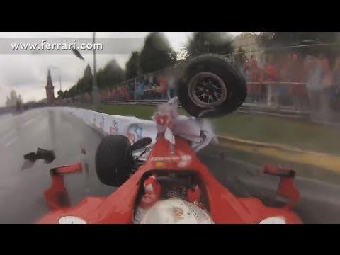 Embarrassing Ferrari F1 Crash onboard view