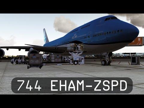 Prepar3d V4.1 - KLM 747-400 - Amsterdam to Shanghai (EHAM-ZSPD)