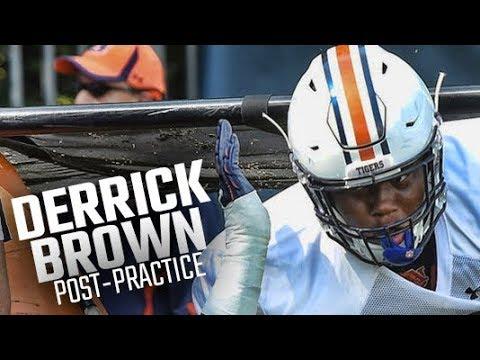 Auburn defensive lineman Derrick Brown on first fall scrimmage