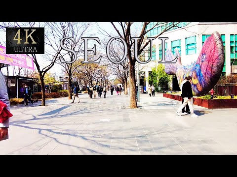 4K Walk  Yeouido Seoul's main finance and investment banking district