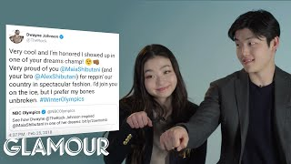 Olympians Maia and Alex Shibutani Respond to Their Fans' Tweets | Glamour