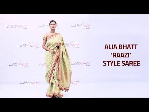 How to Wear Alia Bhatt Raazi Style Saree   Alia Bhatt Style Sari Draping