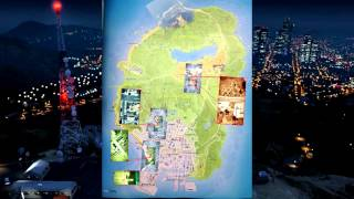 Grand Theft Auto V -  GTA 5 Map Leaked Before Release of GTA V! (Official Grand Theft Auto 5 Map)