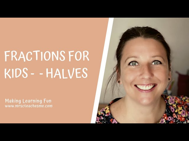 Fractions for kids - maths learning video - halves