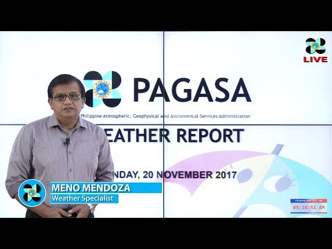 Public Weather Forecast Issued at 4:00 AM November 20, 2017