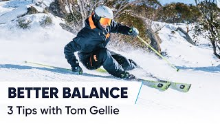HOW TO SKI WITH BALANCE | 3 Tips for steeper slopes and short turns