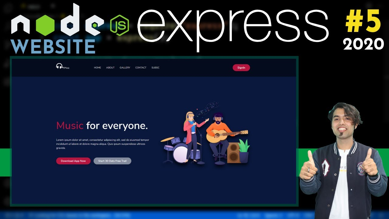 Website using HTML CSS & Express JS in Hindi   Serve Static Website in Node JS