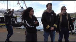 Sea Shepherd's Capt Peter Hammarstedt — Operation GrindStop 2014 Launch Press Conference