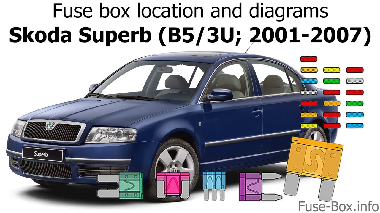 fuse box location and diagrams skoda superb b5 3u 2001 2007 skoda superb 2005 fuse box skoda superb 2005 fuse box [ 1280 x 720 Pixel ]