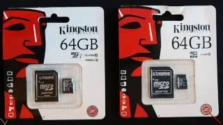 Genuine & Fake - Kingston 64GB Micro SD Cards