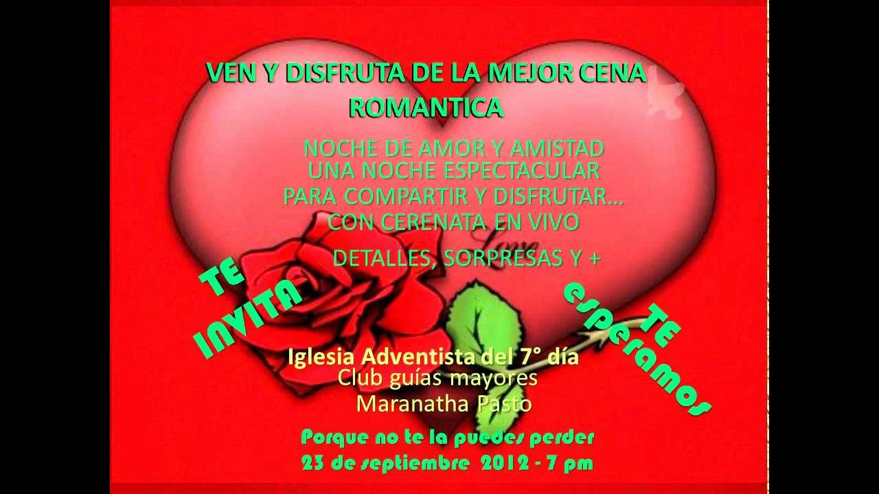 Invitacion Cena Romantica Youtube