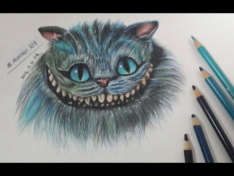 Drawing cheshire cat alice in wonderland