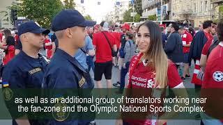 Ukrainian leas provided proper security at champions league final (subtitles)