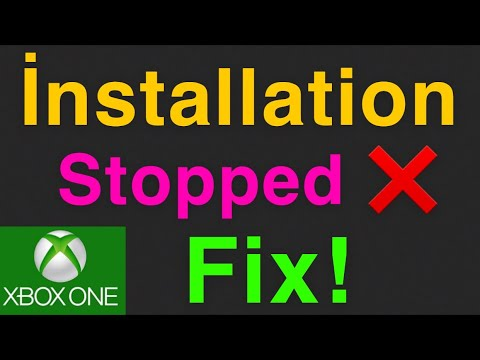 Xbox One How To Fix Installation Download Stopped NEW!