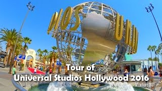 Full Tour of Universal Studios Hollywood 2016 - Steady Walking Tour