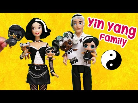 Barbie LOL Families ! The Yin Yang Family | Toys and Dolls Fun Playing for Kids | SWTAD