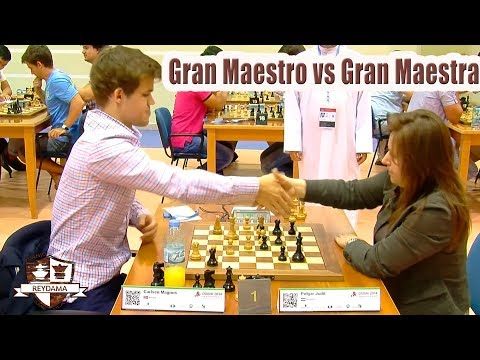 Magnus Carlsen vs Judit Polgar  Campeonato del mundo de rapidas de ajedrez 2014!