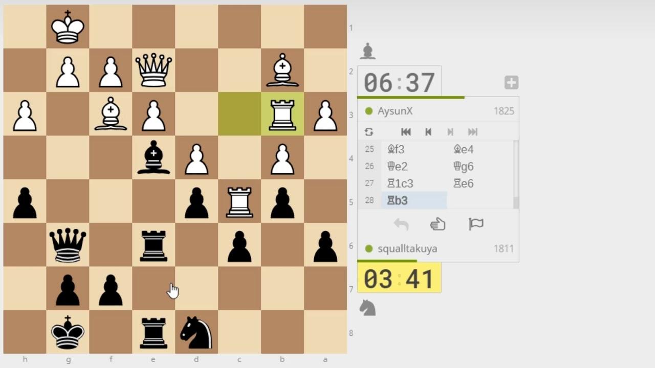チェス対局】 フレンチディフェ...