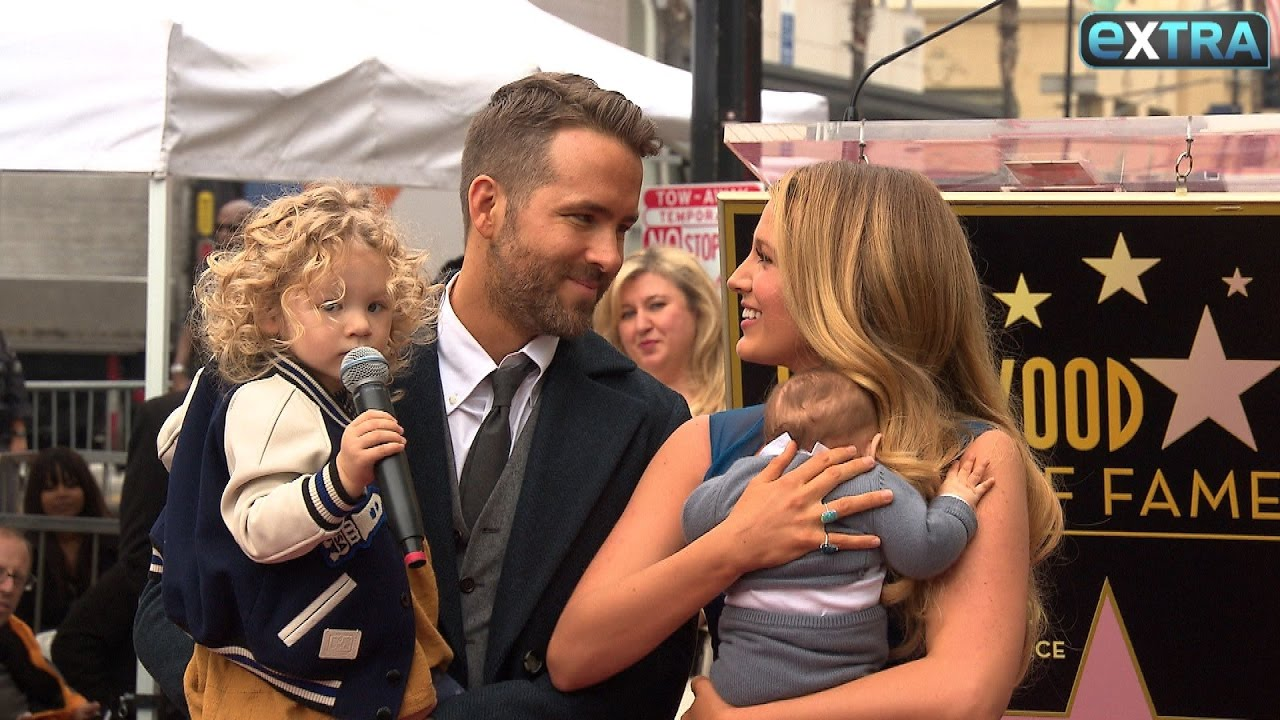 why ryan reynolds brought his family to hollywood walk of fame