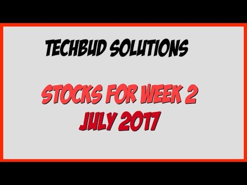 Top 5 Stocks For Week 2 Of July 2017 | Sunday Stock Talk
