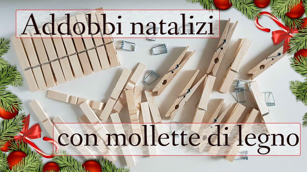 5 Addobbi Natalizi Fai Da Te Con Mollette Di Legno 2019 Lavoretti Natale Facili