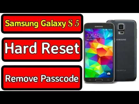 Samsung Galaxy S5 G900F Hard Reset Remove Password Android 6 0 1 Safe Me...
