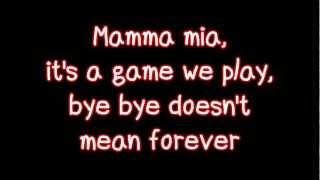 Glee - Mamma Mia (Lyrics) HD