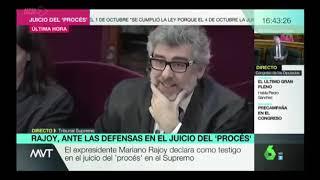 Tremendo palo de Rajoy a un abogado de los golpistas que quiso tener su minuto de gloria