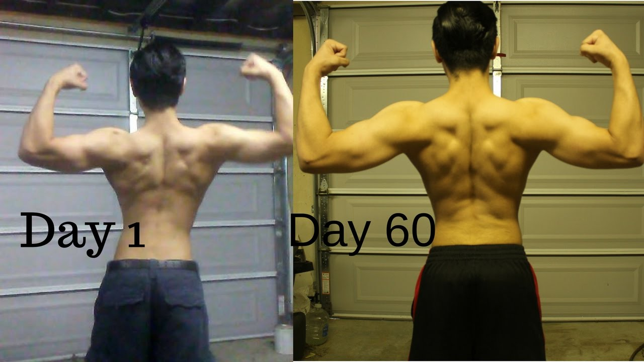 Chin Ups Before And After Pull Ups for 60 Days c...