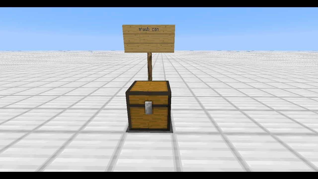 檸檬的minecraft教學-箱子形垃圾桶 - YouTube