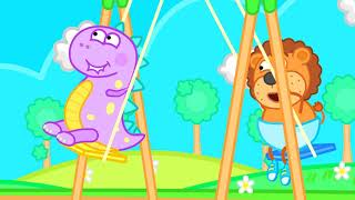 Lion Family   Playing with Stacking Rings for Children   Cartoon for Kids