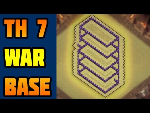 Clash Of Clans Town Hall 7 Defence | Clash Of Clans (coc) Town Hall(Th7) War Base 2016