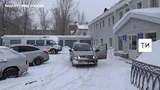Появилось видео задержанного водителя иномарки, который покалечил инспектора ГИБДД в Казани