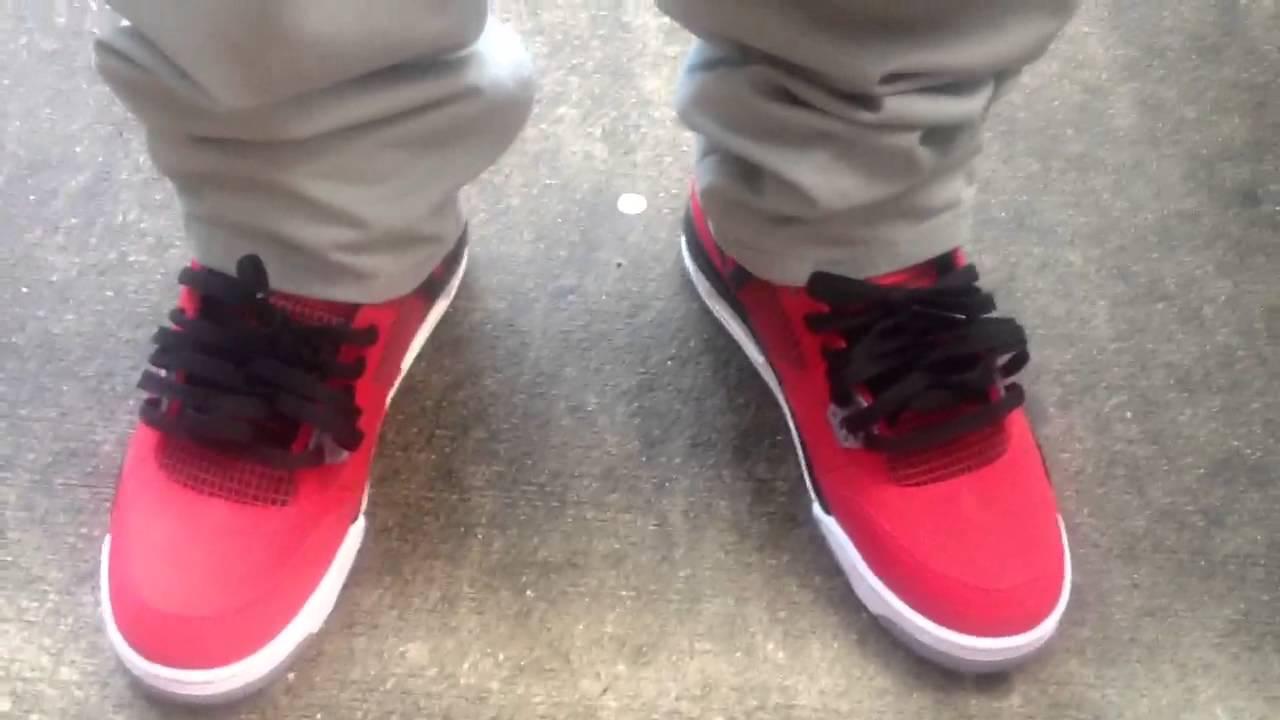 half off 7759c cb371 Retro 4 toro bravo on feet review - YouTube