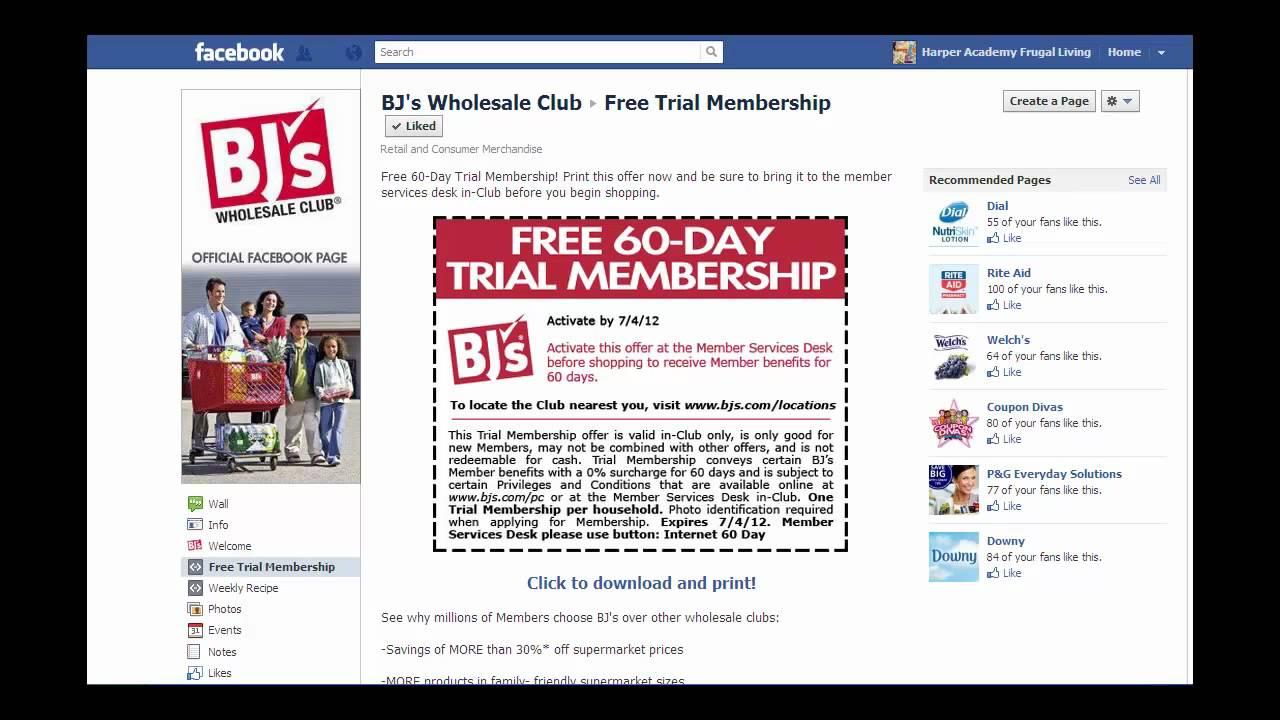 Bjs free trial membership