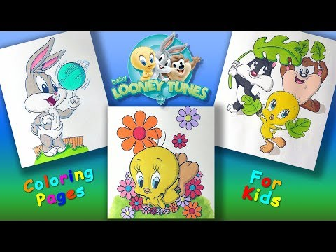 Baby Looney Tunes cartoon characters Part 3 Coloring Pages #forKids #LearnColors with #LooneyTunes