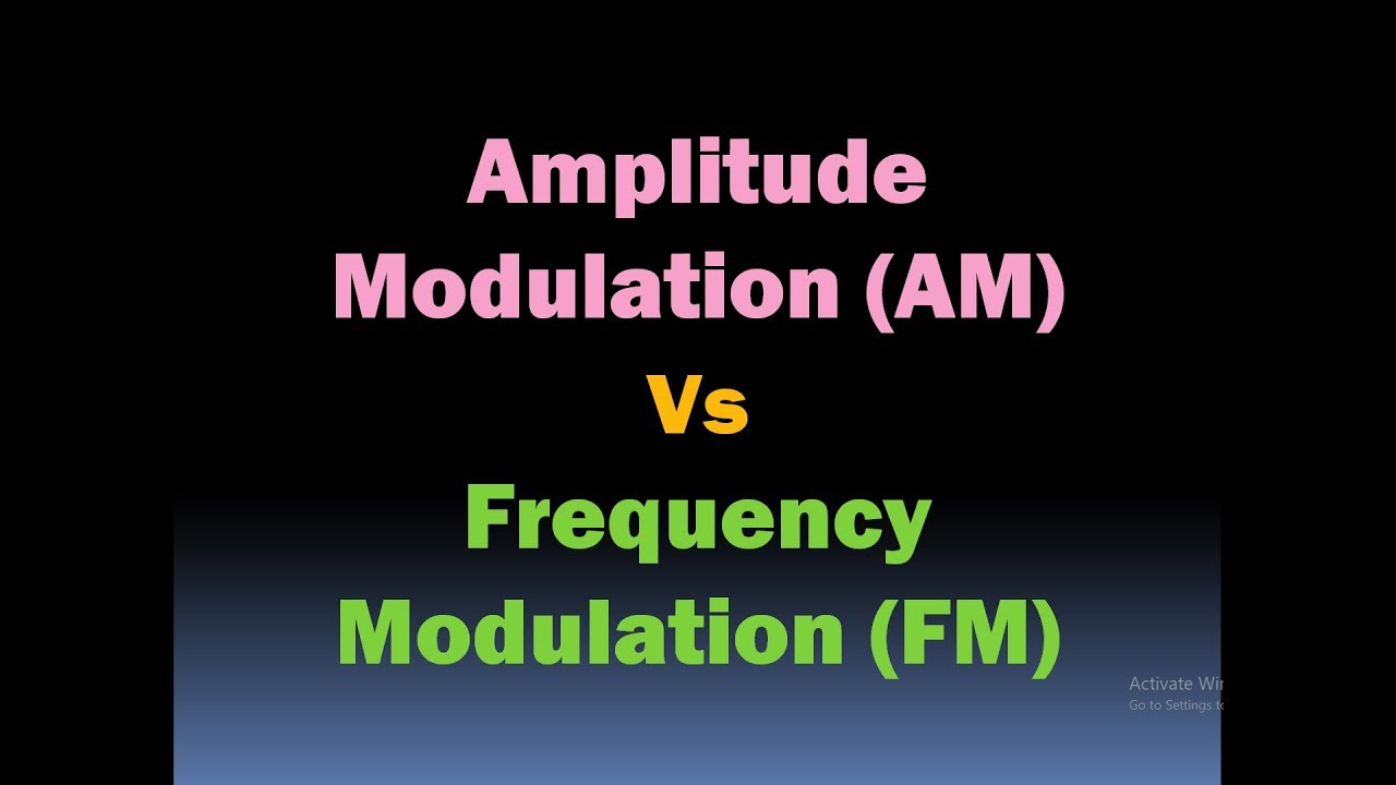 Amplitude Modulation Vs Frequency Modulation (AM vs FM Modulation) [HD]