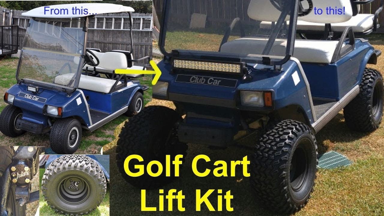 Golf Cart Lift Kit Install Youtube