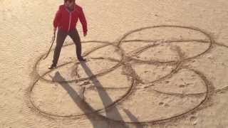 How To Draw Celtic Patterns 71 - Flower of Life Pattern in sand 1 of 1