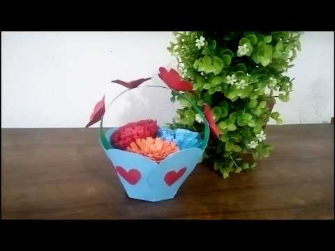 How to make Paper Flower Bucket