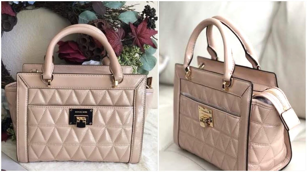 19375a98d3f7 My New Michael Kors HandBag - Vivianne Quilted Leather Bag (Oyster Color) - So  Beautiful - VLOG  65