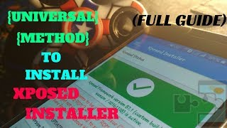 Gambar cover How to install xposed installer on any android (universal method)
