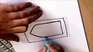 Islamic art tutorial  - How to draw an Islamic Prayer mat - quick time